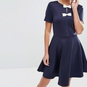 Ted Baker Navy Dress with bows